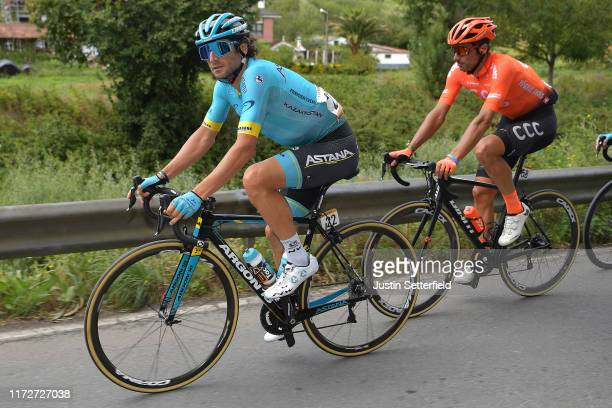 Manuele Boaro of Italy and Astana Pro Team / Francisco Ventoso of Spain and CCC Team / during the 74th Tour of Spain 2019 Stage 13 a 1664km stage...