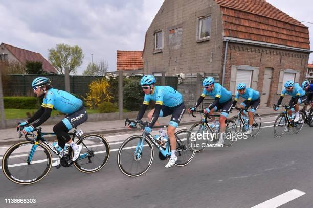 Manuele Boaro of Italy and Astana Pro Team / Hugo Houle of Canada and Astana Pro Team / Dmitriy Gruzdev of Kazakhstan and Astana Pro Team / Davide...