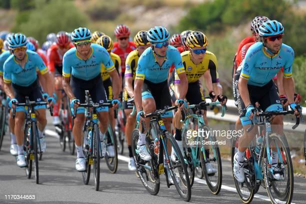 Manuele Boaro of Italy and Astana Pro Team / Neilson Powless of The United States and Team JumboVisma / Gorka Izagirre Insausti of Spain and Astana...