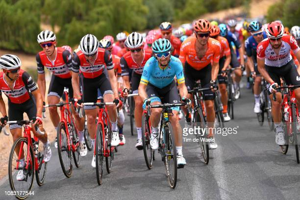 Manuele Boaro of Italy and Astana Pro Team / Thomas De Gendt of Belgium and Team Lotto Soudal / Peloton / during the 21st Santos Tour Down Under 2019...