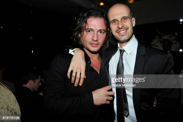 Manuele Malenotti and Edoardo Ponti attend LARRY GAGOSIAN hosts a Private Dinner for the ANDREAS GURSKY Opening Exhibition at GAGOSIAN GALLERY at Mr...