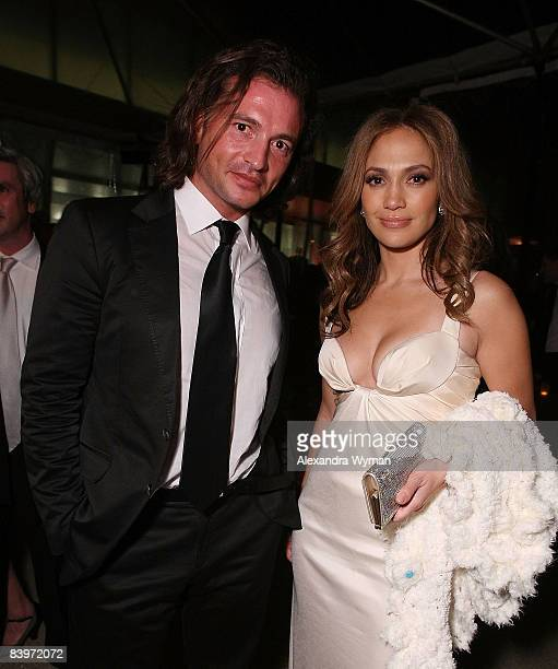 Manuele Malenotti and Jennifer Lopez attend Belstaff's 'The Curious Case Of Benjamin Button' Premiere After Party on December 8 2008 in Los Angeles...