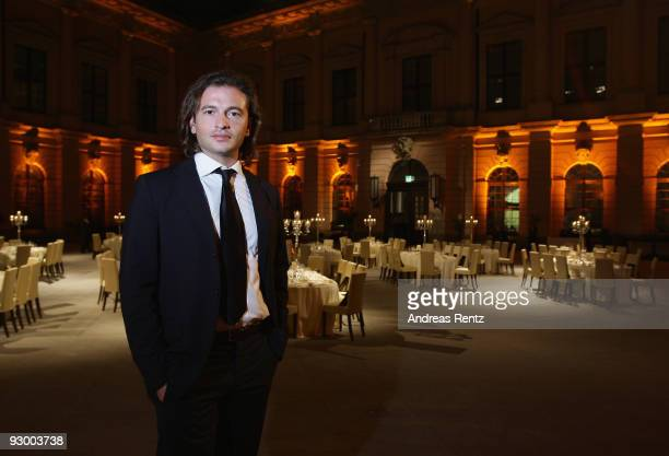 Manuele Malenotti vice president of Belstaff attends at the gala dinner BELSTAFF FOR PEACE to the 10th World Summit of Nobel Peace Laureates at the...