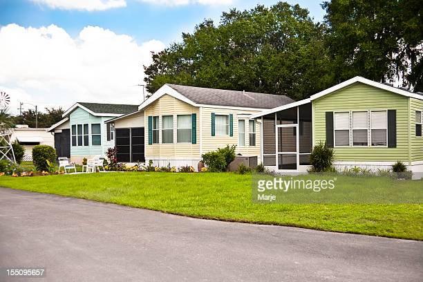 manufactured home park - inexpensive stock photos and pictures