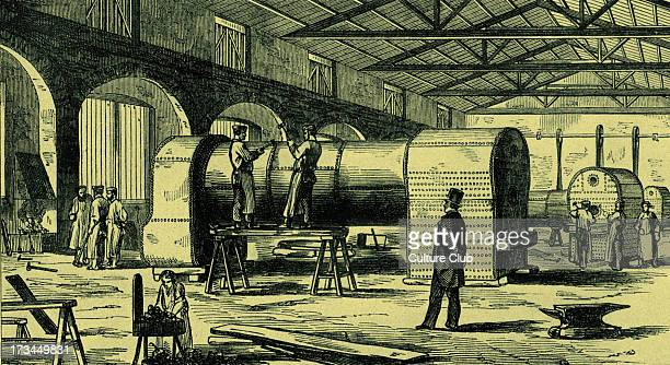 Manufacturing boilers for Great Western Railway in Swindon workshops 1854