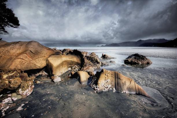 Manukau Harbour, approaching storm, Auckland, New Zealand