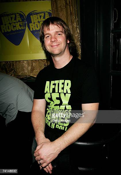 Manumission coowner and Ibiza Rocks promoter Andy McKay arrives at the Ibiza Rocks with Sony Ericsson launch party at The Lock Tavern Camden on May...