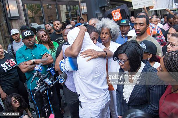 ManUp Founder Andre T Mitchell New York City Council Member Jumaane Williams Shanduke McPhatter brother of victim Erica Ford and Rose McPhatter...