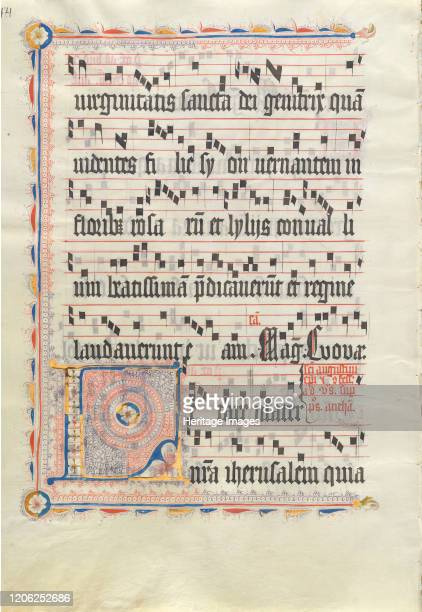 Manuscript Leaf with Initial L from an Antiphonary second quarter 15th century Artist Unknown