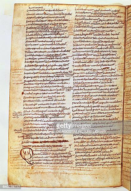 Manuscript page from a work by Horace 8th century Milan Biblioteca Ambrosiana