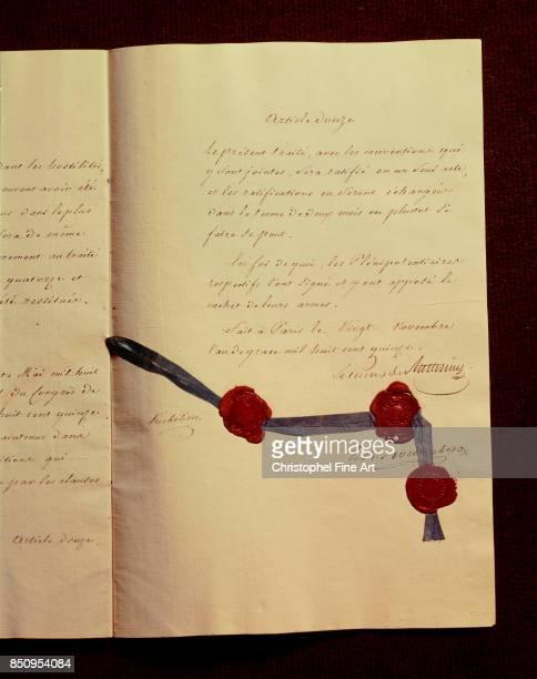 Manuscript Peace Treaty Between France and the Coalitions Paris Ministere Des Affaires Etrangeres