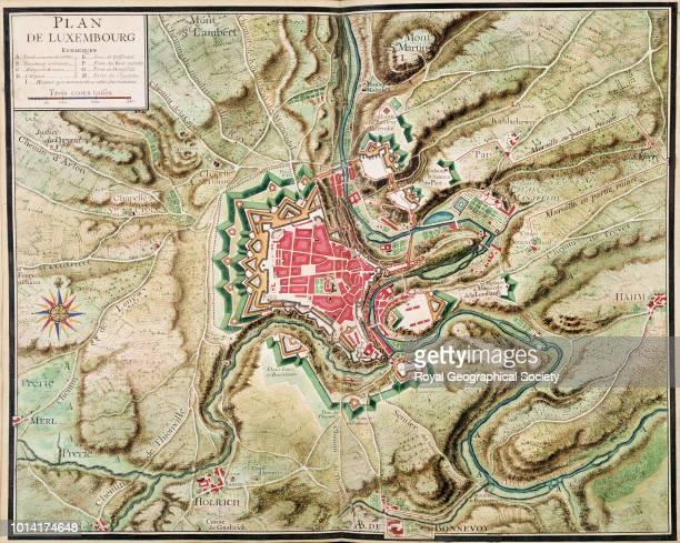 Manuscript plan of Luxembourg Plan de Luxembourg' from 'Table des Places et leurs Environs contenues en ce troisième volume entre la Meuse et la...