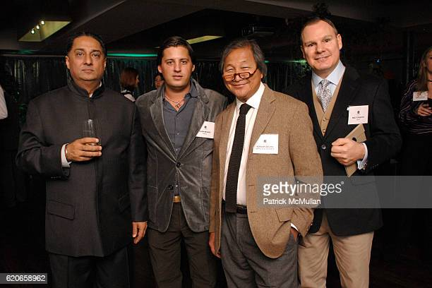 Manvinder Puri Alan Becker Adrian Zecha and Ralf Ohletz attend NIZUC Resort and Residences Preview Opening at Soho House on January 22 2008 in New...