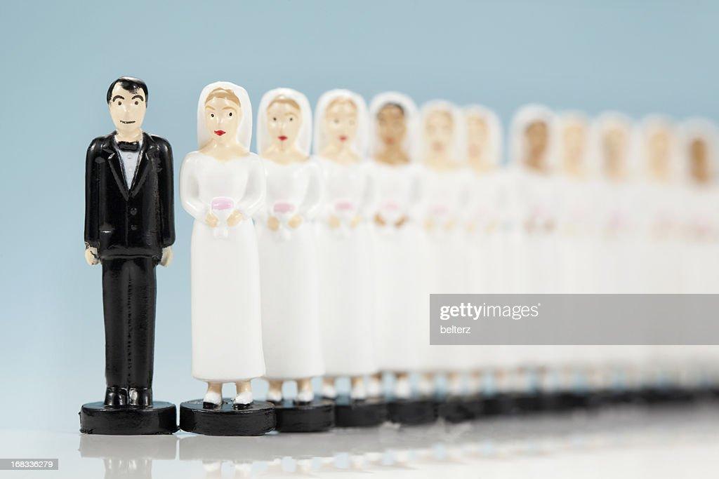 多くの花嫁 : ストックフォト