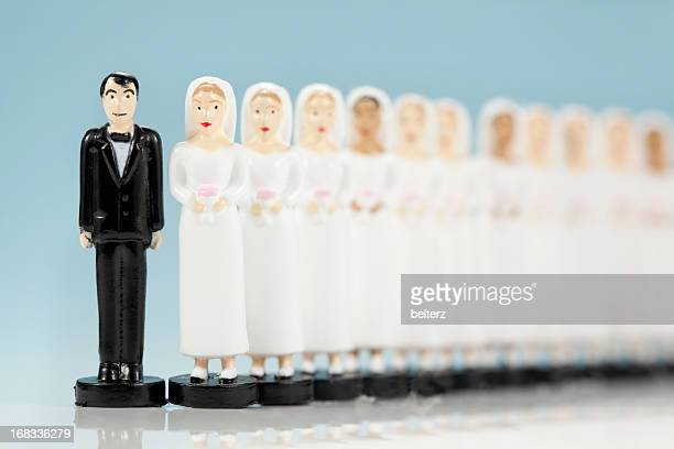 many brides - bigamy stock pictures, royalty-free photos & images