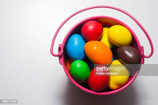 many colored candy - easter candy stock pictures, royalty-free photos & images