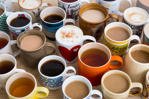 Many cups of tea, coffee and hot chocolate - gettyimageskorea