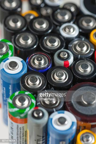 Many empty batteries