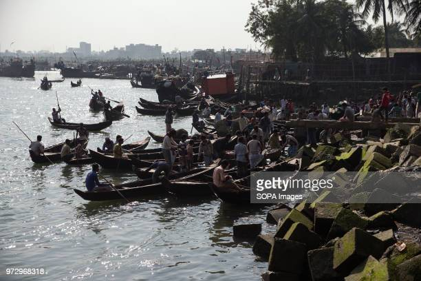 COX'S BAZAR BANGLADESH Many fishermen and their boats turn up for the market on the banks of the Bakkhali River Cox's Bazar is a coast town in the...