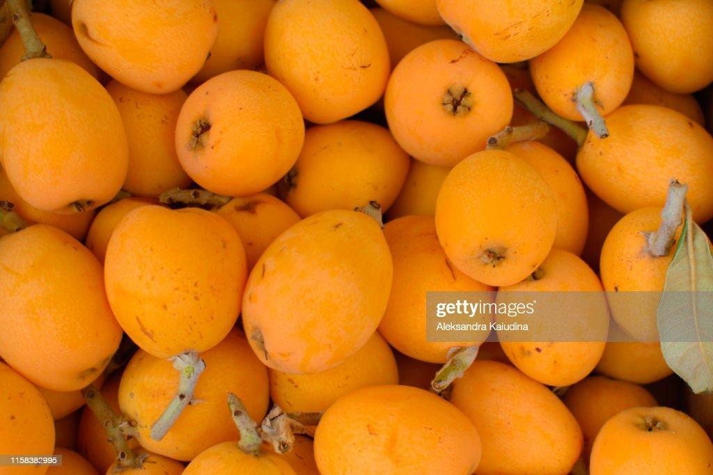 メドラーの多くの果物。 : ストックフォト