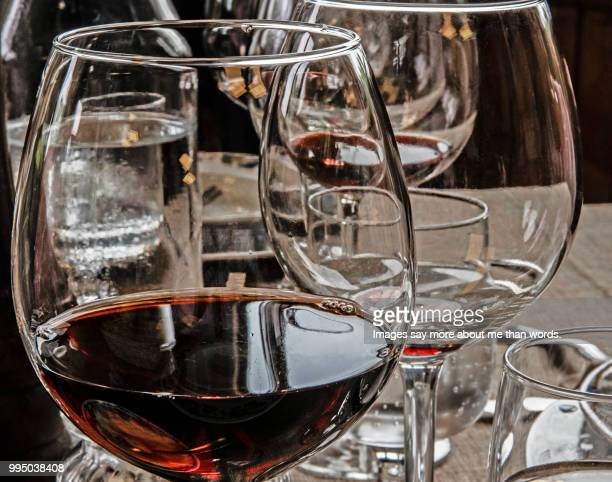 many glasses of barolo wines. tasting and enjoying. close up. - piedmont italy stock pictures, royalty-free photos & images