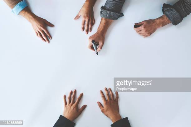 many hands make the idea work - brainstorming stock pictures, royalty-free photos & images