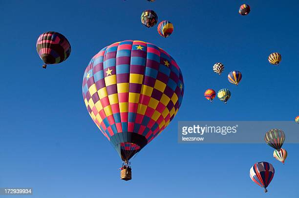 Many Hot Air Balloons in Flight