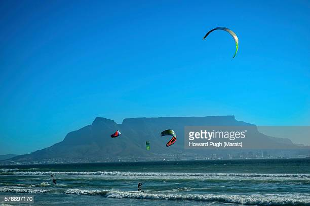 Many Kite Surfing Sails.