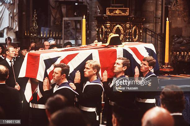 Many members of the Royal Family attended the funeral of Lord Mountbatten murdered when his fishing boat was blown up by an IRA bomb which took place...