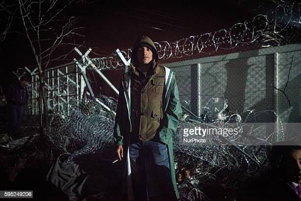 Many migrants spend days and nights waiting to be allowed to cross the border at the makeshift camp placed on the train tracks of Idomeni railway...