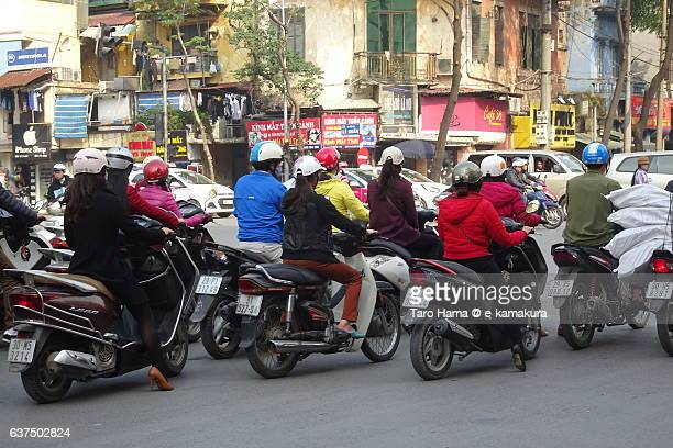 Many motor bikes in Hanoi