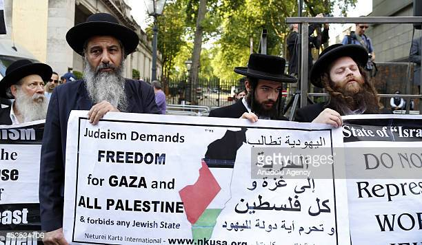 Many people gather to protest Israeli attacks to Gaza in front of Israeli Embassy in London United Kingdom on July 22 2014