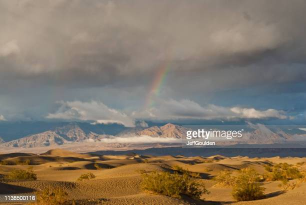Rainbow Over Mesquite Flat Sand Dunes at Sunset