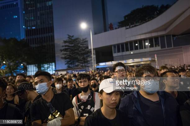 Many protester refuse to leave after the march as they demand the the resignation of Chief Executive Carrie Lam Despite the Chief Executive Carrie...