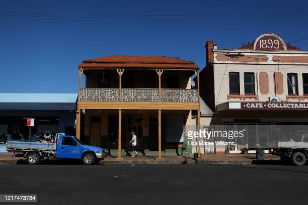 Many shops are seen closed along Manilla Street on April 06, 2020 in Manilla, Australia. The Australian government has introduced further...