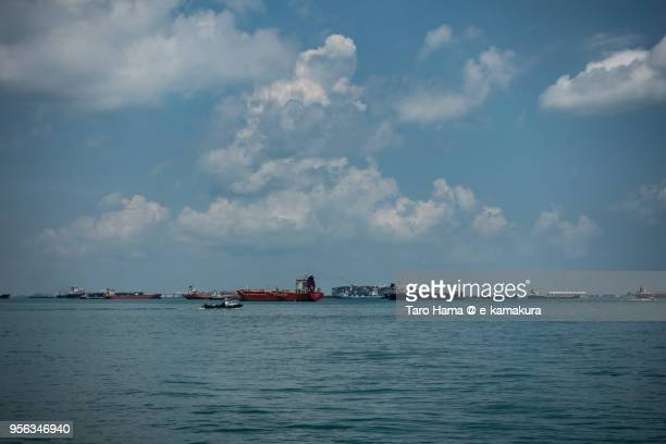 Many tankers on Straits of Singapore