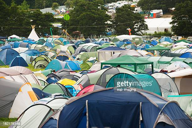 Many Tents at Music Festival Campsite