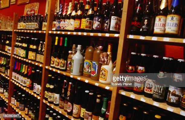 Many varieties of beer at Biertempel.