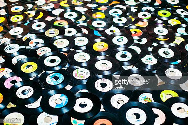 many vinyl records. - reggae stock photos and pictures