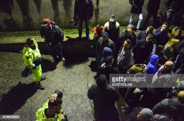 Many voters wait Luigi Di Maio that after his election, meets the militants of the Movimento 5 Stelle in the municipality of the province of Naples...