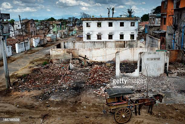 Many waves of violence led against Muslims by Buddhists have destroyed and left many buildings in ruins during the riots of March 2013 in the last...