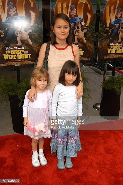 Manzie Tio Allen Bechet Tio Allen and Soon Yi Previn attend The Curse of the WereRabbit Premiere at Chelsea West Theatre on September 25 2005 in New...