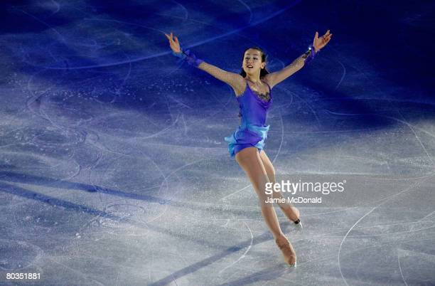 Mao Asada of Japan performes in the Gala during the ISU World Figure Skating Championships at the Scandinavium Arena on March 23 2008 in Gothenburg...