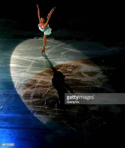 Mao Asada of Japan performs at the gala exhibition of 2005 China Figure Skating Championship at Capital Gymnasium on November 6 2005 in Beijing China