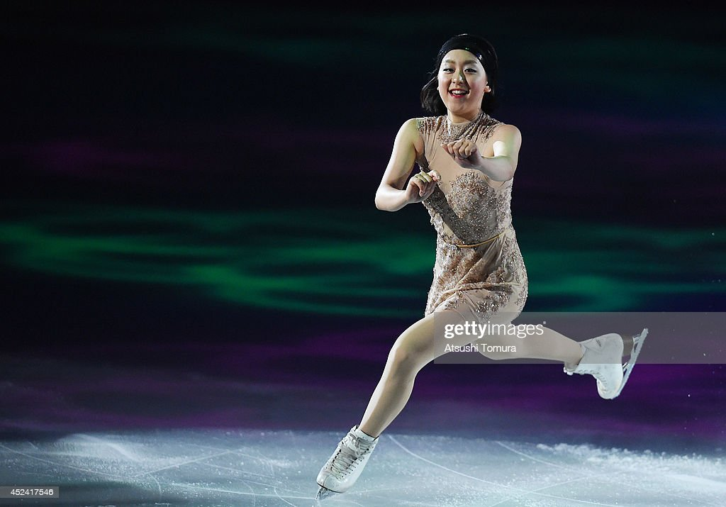 Mao Asada of Japan performs her routine during THE ICE 2014 at the White Ring on July 19, 2014 in Nagano, Japan.