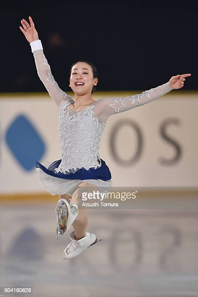 Mao Asada of Japan performs her routine during the NHK Special Figure Skating Exhibition at the Morioka Ice Arena on January 9 2016 in Morioka Japan