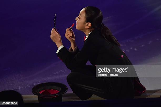 Mao Asada of Japan performs her routine in the exhibition on the day four of the 2015 Japan Figure Skating Championships at the Makomanai Ice Arena...