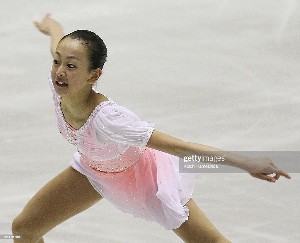 Mao Asada of Japan skates during the Grand Prix of Figure Skating Final 2005/2006, Ladies Free Skating at Yoyogi National Gymnasium on December 17, 2005 in Tokyo, Japan.