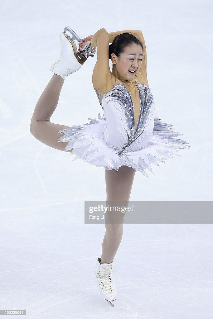 Mao Asada of Japan skates in Ladies Free Skating during Cup of China ISU Grand Prix of Figure Skating 2012 at the Oriental Sports Center on November 3, 2012 in Shanghai, China.