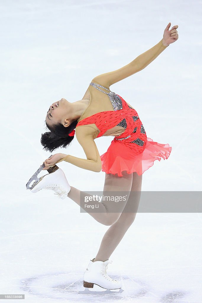 Mao Asada of Japan skates in the Ladies Short Program during Cup of China ISU Grand Prix of Figure Skating 2012 at the Oriental Sports Center on November 2, 2012 in Shanghai, China.